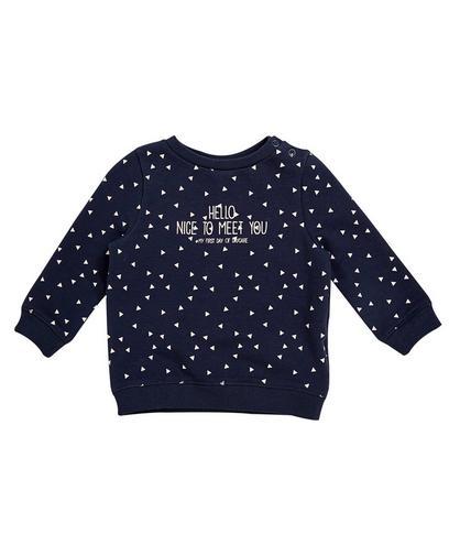 Nachtblauwe sweater
